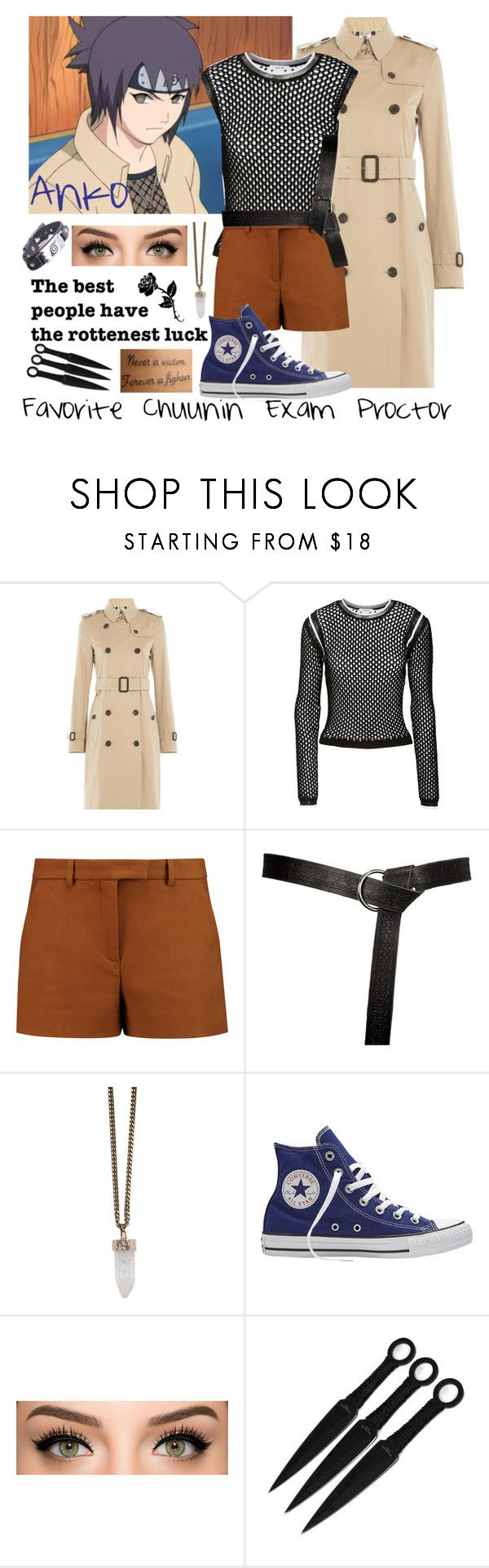 """Day 6~ Favorite Chuunin Exam Proctor"" by frizzleliz ❤ liked on Polyvore featuring Burberry, Helmut Lang, Emilio Pucci, Givenchy, Converse, Gypsy, anime, naruto, anko and narutochallenge"