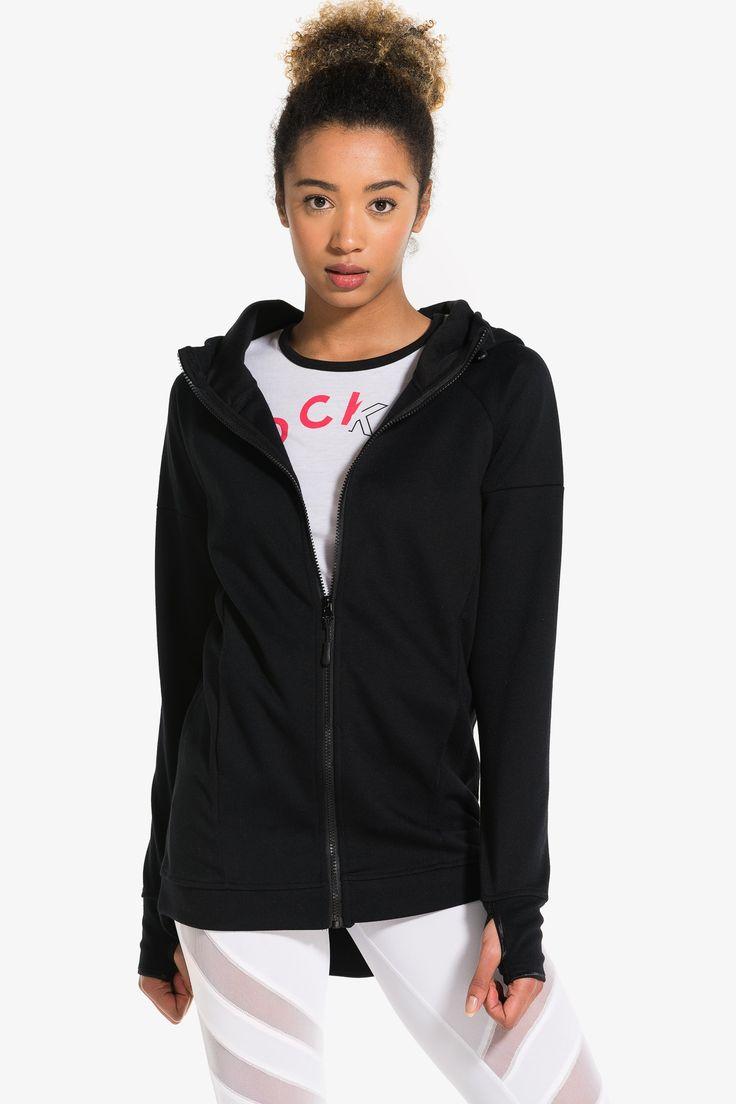 Long MOVE zip hoodie