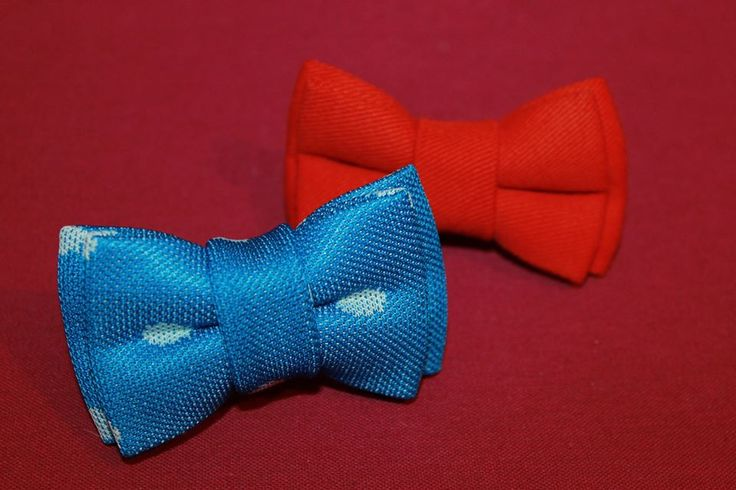 Double XXS bow ties for dogs (8,5/5 cm), hand made, can be attached to the collar.