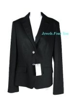 "Hugo Boss Black Wool Business ""Janna3"" Blazer Jacket Size 2"