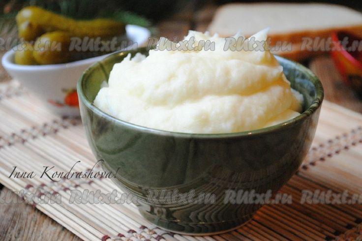 Рецепт картофельного пюре с молоком и маслом