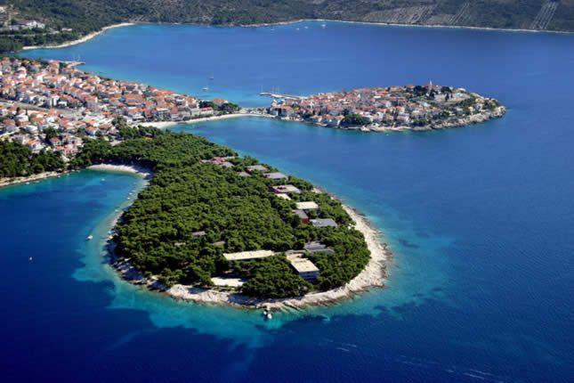 Primosten - island and medieval village in Sibenik County - Adriatic, Croatia