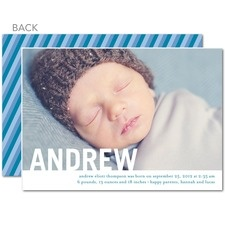 Standout Name: Boy Birth Announcements