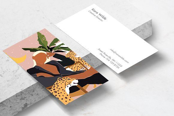 Girl Boss Business Card Template In 2020 Business Card Template Card Template Business Card Design