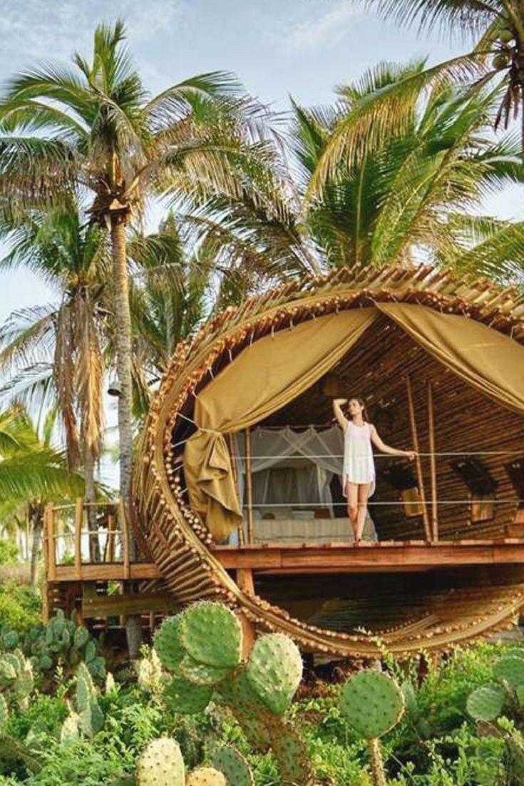 Breathtaking Beachfront Tree House Rental near Zihuatanejo