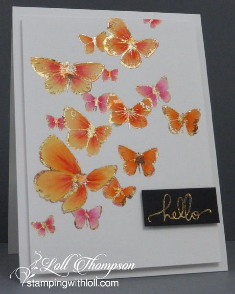 Stamping with Loll: Gilding Flakes and Watercolouring
