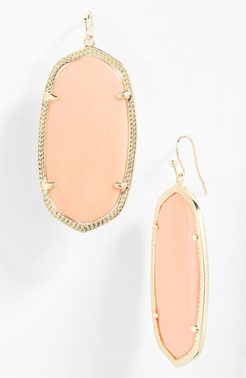 Kendra Scott 'Danielle' Oval Statement Earrings.I have these in 3 colors. LOVE them.