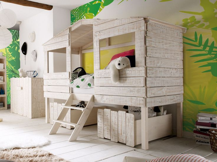 Kinderbett Safari - massivum