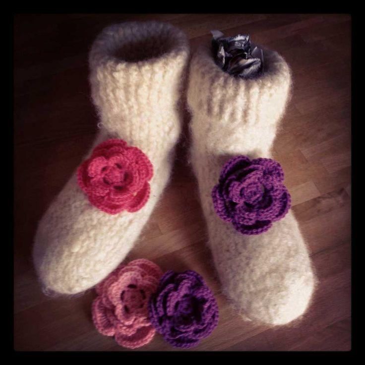 Gefilzte Stiefelsocken - Felted Boot-Socks