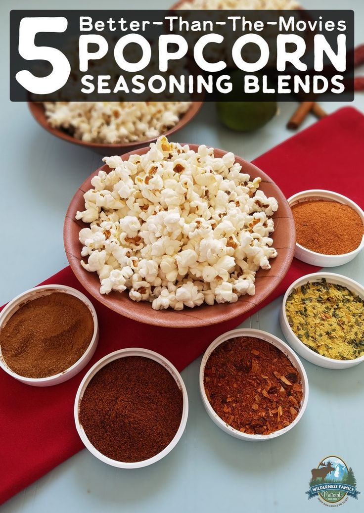 5 Better-Than-The-Movies Popcorn Seasoning Blends | Homemade popcorn is cheap, easy, and a really fun snack for movie night, road trips, parties, or even during the work day. These 5 tasty popcorn seasoning blends will take your buttered popcorn up a notch -- and you won't find anything like them at the movies!