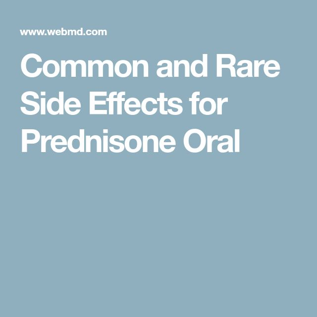 Common and Rare Side Effects for Prednisone Oral