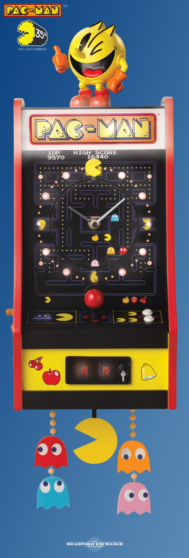 33 best home decor images on pinterest wall clocks zippo honor the legendary arcade sensation with this collectible pac man cuckoo clock it even amipublicfo Images