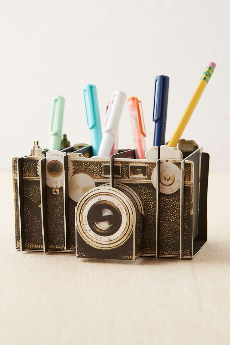Vintage Camera Artful Desk Organizer I wrestle between wanting a vintage look to my apartment to a bohemian style haha