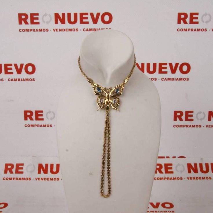 #Manita mariposa de #oro con circonitas E254566A de segunda mano | Tienda online de segunda mano en Barcelona Re-Nuevo #segundamano
