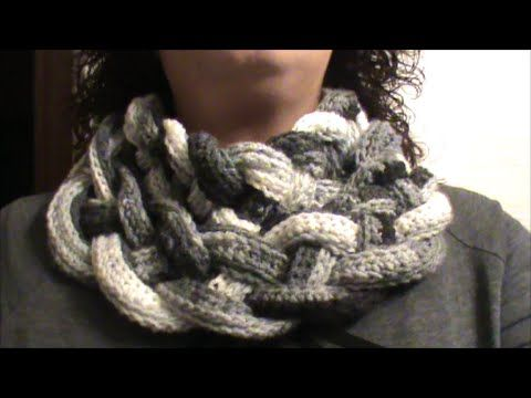 Double Layered Braided Cowl - Crochet Tutorial - YouTube