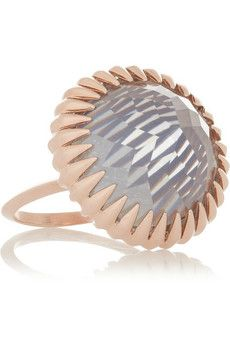 Katie Rowland Ishtar Orb rose gold-plated quartz ring | THE OUTNET