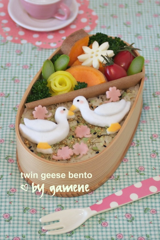 twin geese bento
