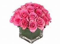 pink roses in vase - Bing Images