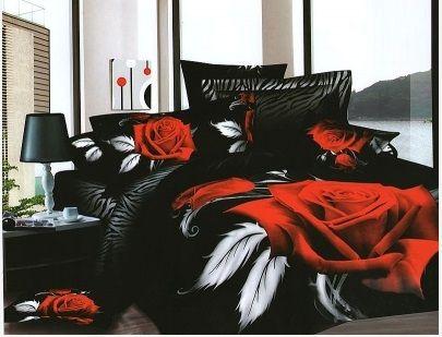 Pościel 3D róża z piórkiem dostępna w sklepie kasandra.com.pl