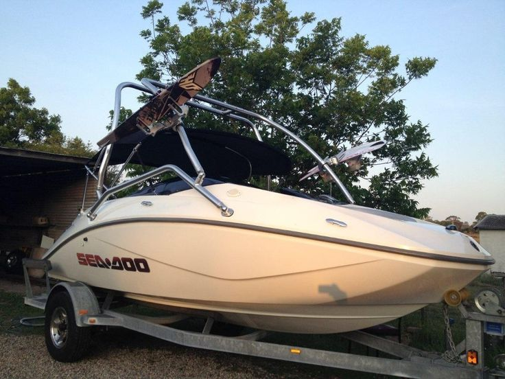 one of our Twinbarrel Wakeboard Towers on a SeaDoo rrp $1150 free postage (in Australia) call +61 438419320 or felix@wantedwake.com for details #wakeboarding #wakesurfer #boating #boats #waketowers #towers