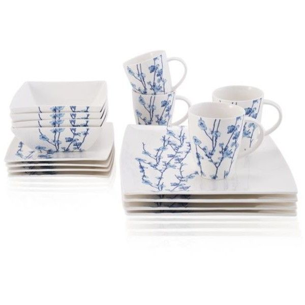 Maxwell & Williams  Oriental Blossom 16 Piece Dinnerware Set ($140) ❤ liked on Polyvore featuring home, kitchen & dining, dinnerware, multi, oriental dinnerware sets, oriental bowl, oriental dinnerware, asian dinnerware and asian bowl