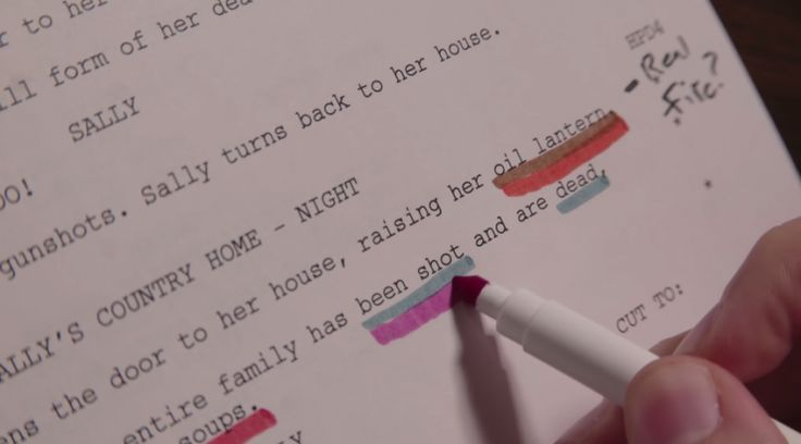 Okay, you've finally got your script set. Now all you need to do now is painstakingly go through it piece by piece to get it ready for production.