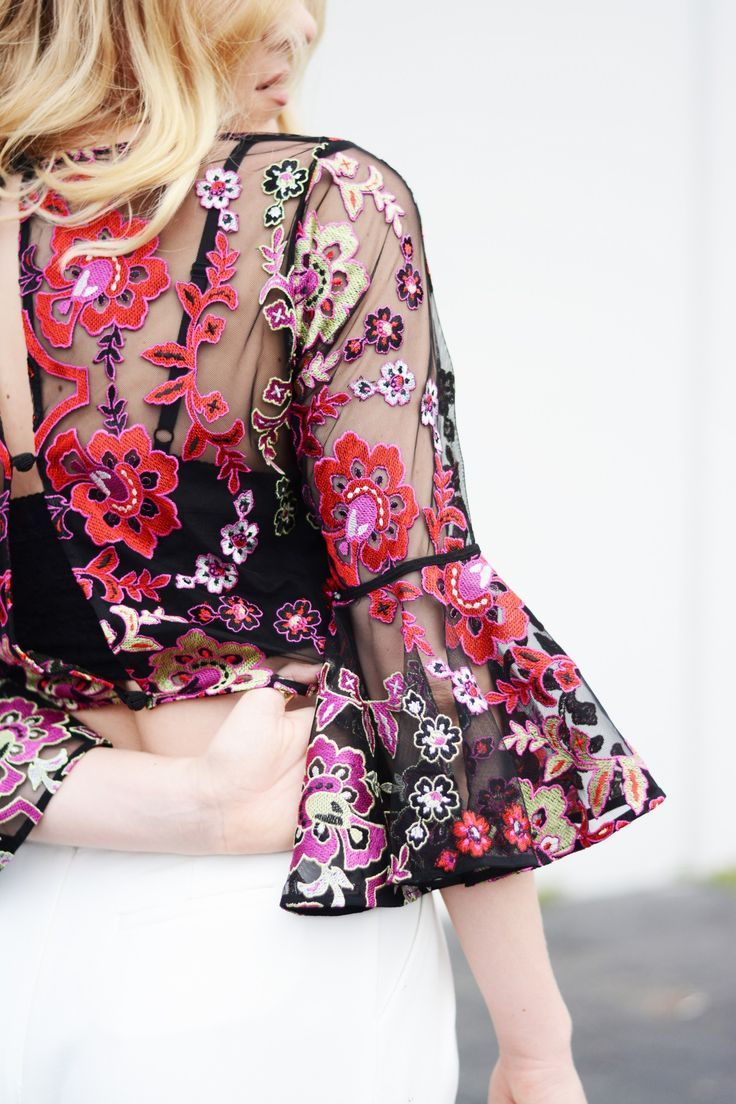 Infuse your autumn wardrobe with dark and rich floral embellishments.