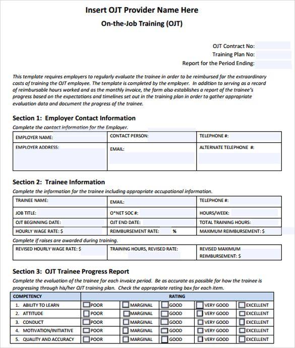 Training Log Templates 11 Free Printable Word Excel Pdf