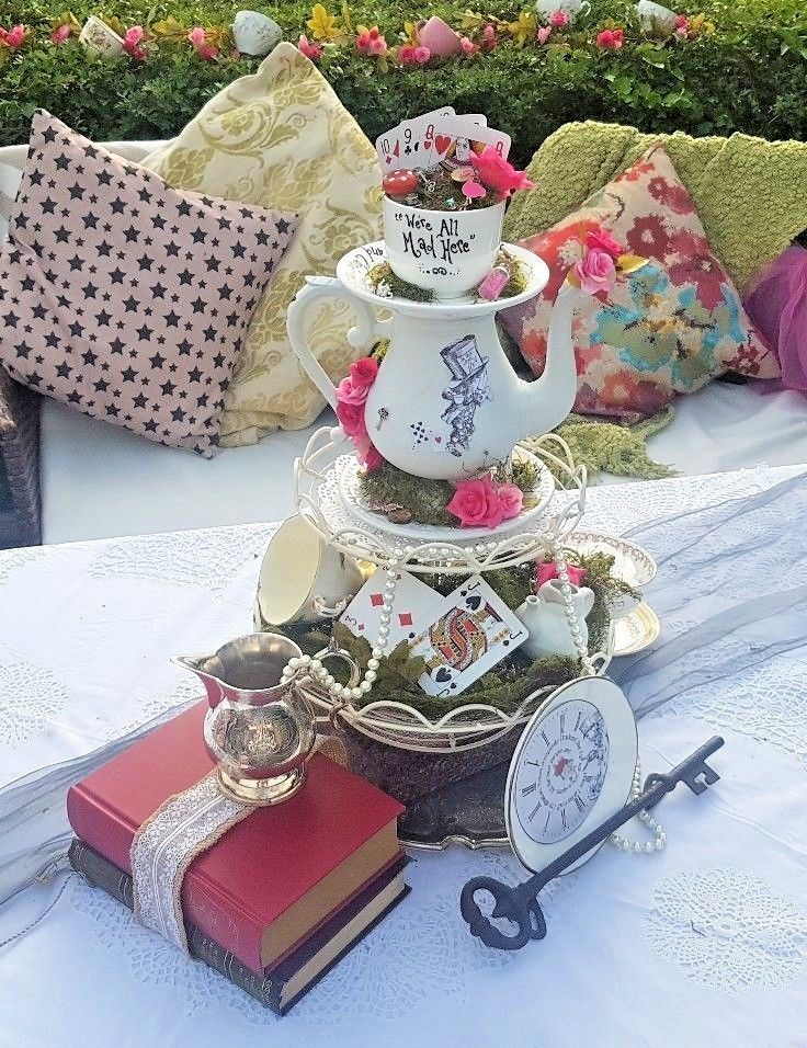 Mad Hatter Table Centre Alice In Wonderland Tea Party Alice In