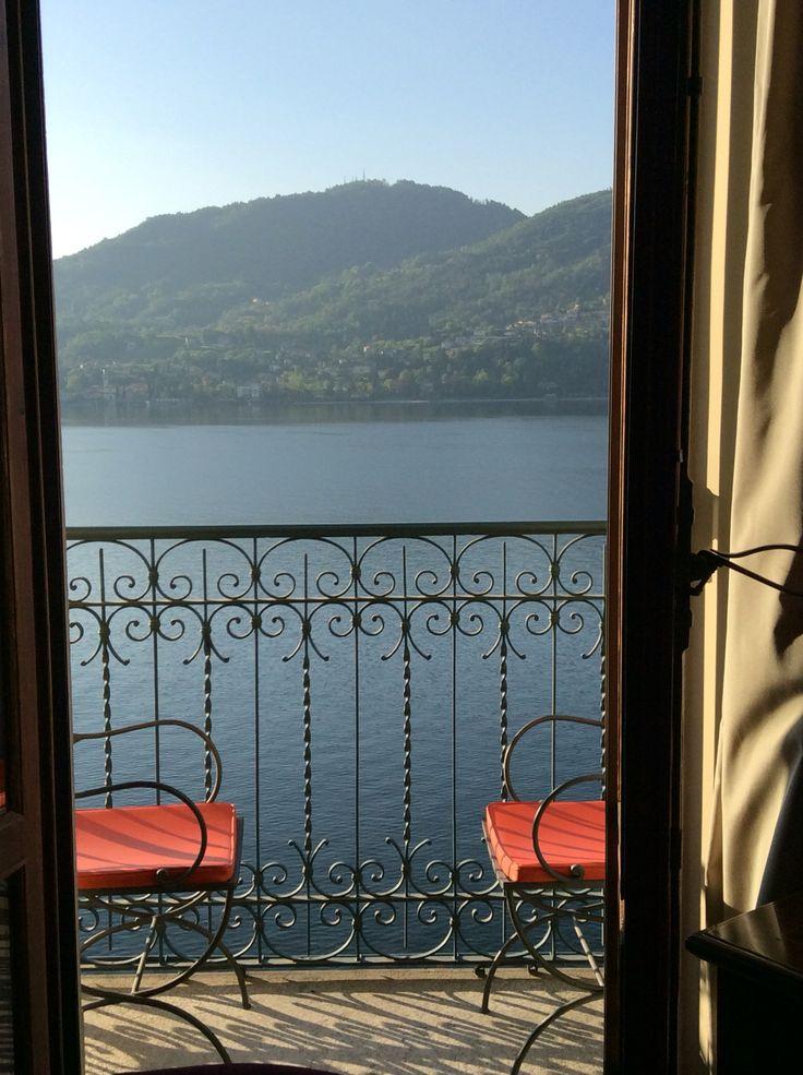 Your morning view #GrandHotelTremezzo, Lake Como