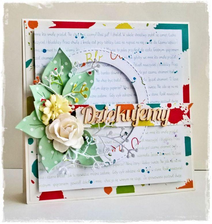kartka, dziękujemy, szkolne historie, podziękowanie, card, handmade, gość