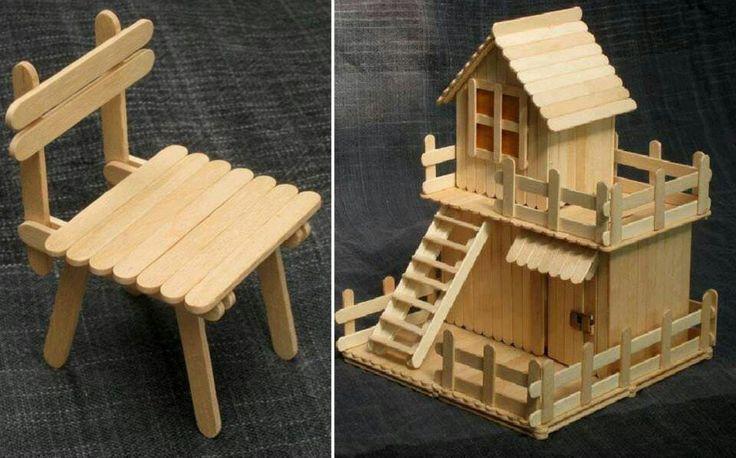 Popcicle stick bird house!  :)