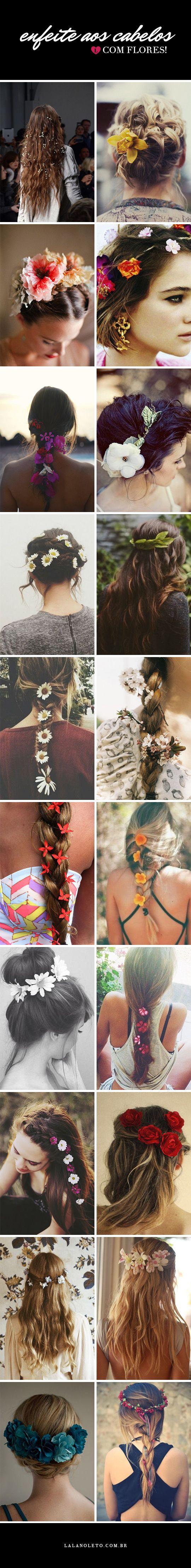 Dicas e inspirações de flores na cabeça para enfeitar e deixar o seu look ainda mais colorido