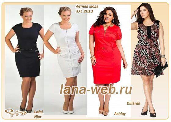 летние короткие платья для полных девушек