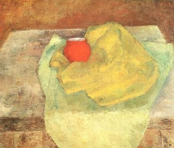 Still Life With A Small Red Pot by Robert Falk