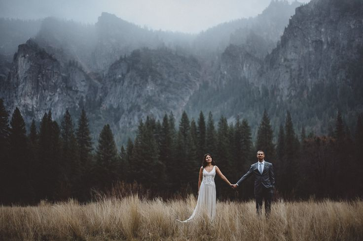 "Yosemite Winter Wedding - ""Sandra and Shawn eloped in Yosemite National Park on a gloriously rainy  winter day. It was pure magic."""
