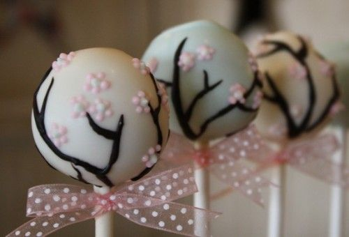 cute!Ideas, Cake Ball, Pretty Cake, Cherries Blossoms Cake, Cake Pop, Bridal Shower, Cherry Blossoms, Baby Shower