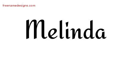 Calligraphic Stylish Name Tattoo Designs Melinda Download Free