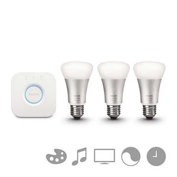 Kit initiere Philips Hue, 3 becuri LED, 9W, E27