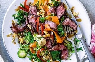 Thai beef and sprout stir fry