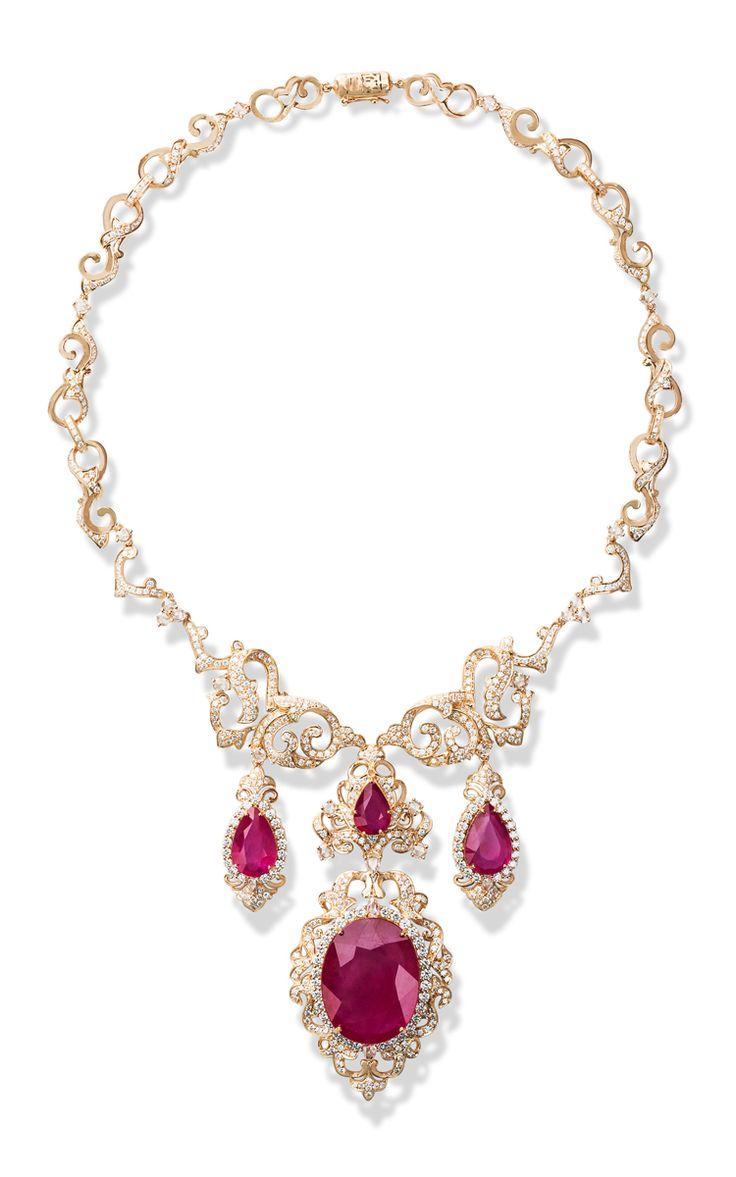 Regal Romance Necklace by Farah Khan Fine Jewelry for Preorder on Moda Operandi