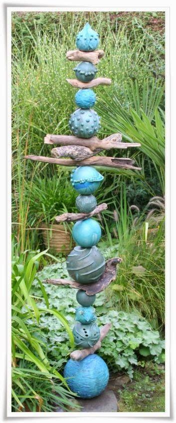 MATIN LUMINEUX: Totems de jardin                              …