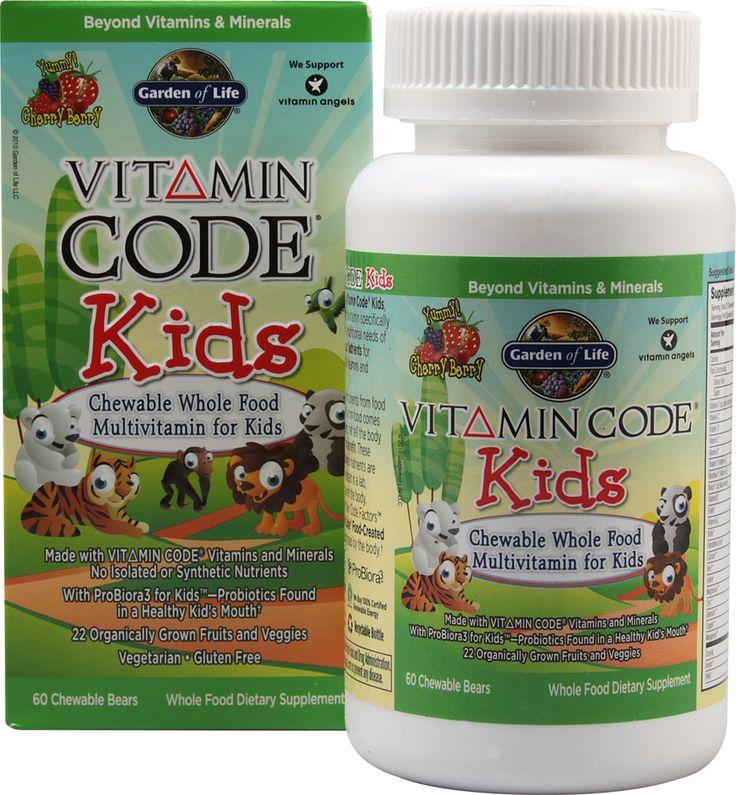 garden of life vitamin code kids cherry berry muti vitamin probiotic made