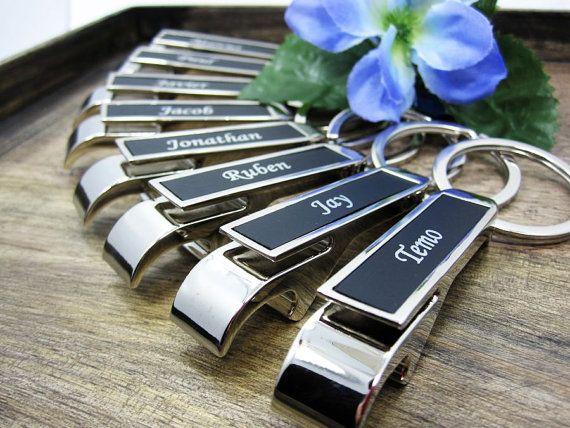 personalized bottle opener keychain - groomsman gift ideas!