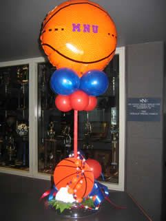 Basketball Themed Table Decorations   ... Table Centerpieces As Well As  Larger Decor From