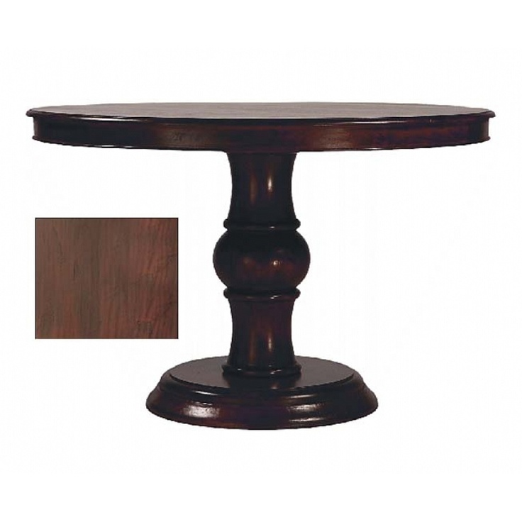 Toulouse round distressed wood top dining table for Distressed round dining table