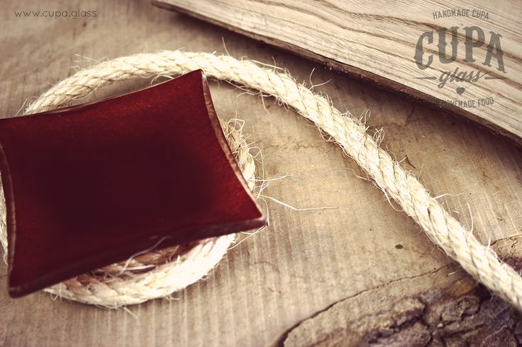 #Handmade #Red #Plate  Small red dessert plate for rustic style table setting by www.cupa.glass