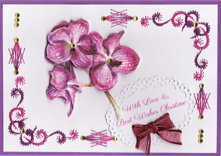 3D Purple orchid with embroidery (by Tassie Scapangel)