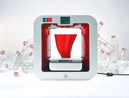 3D Systems, Ekocycle Cube, Ekocycle 3D printer, 3d printer recycled plastic, recycled plastic, 3d printing, 3d printer design, 3d printing f...