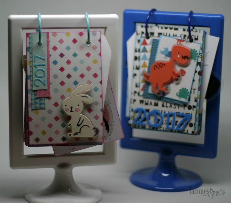 Calendarios personalizados, a través del Blog TaconesConGracia. http://taconescongracia.blogspot.com.es/2017/06/calendarios-personalizados-para-los.html